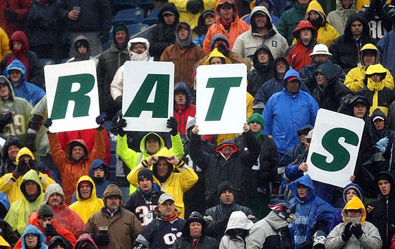 Patriots fans mock the New York Jets