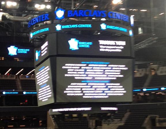Brooklyn Nets HD scoreboard