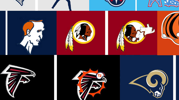 Kurt Snibbe NFL logo makeover