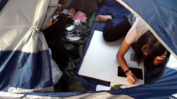 Inside Twilight Tent City