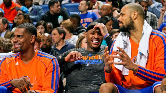 Kurt Thomas, Carmelo Anthony, Tyson Chandler