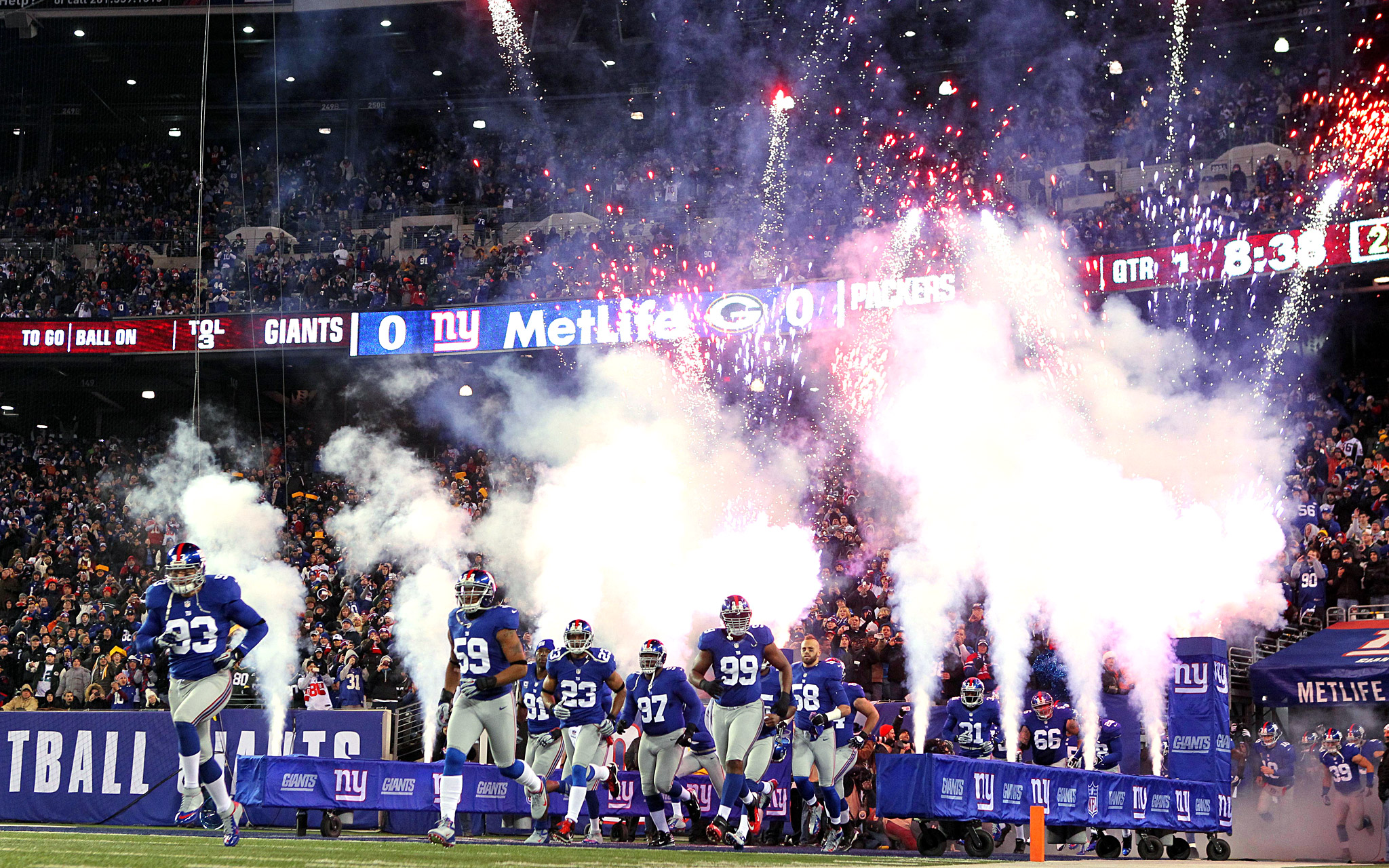 Photos Big Blue Huge Vs Packers New York Giants Blog Espn