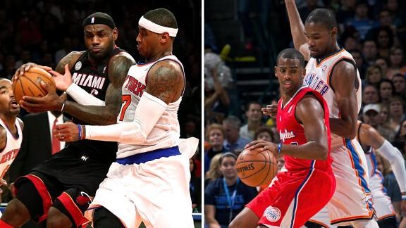 Carmelo Anthony, LeBron James, Kevin Durant, Chris Paul