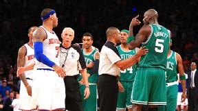 Carmelo Anthony and Kevin Garnett