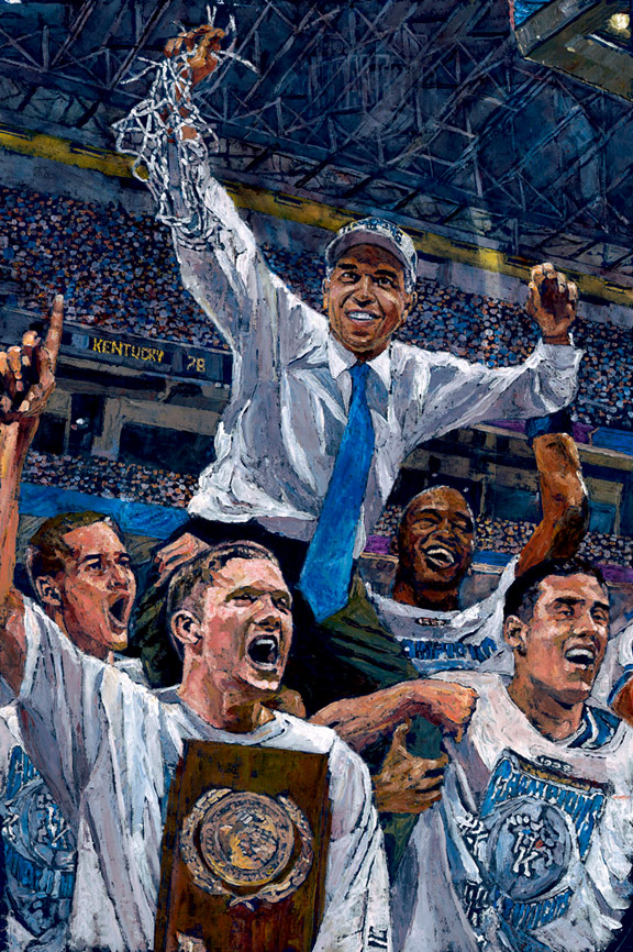 Tubby Smith and Kentucky Wildcats NCAA Tournament painting by Opie Otterstad