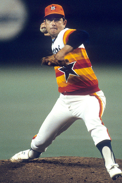 d869ba7ae62 Rainbow jerseys were perhaps the only thing that could make even Nolan Ryan  in his prime look silly.