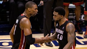 Chris Bosh and Udonis Haslem