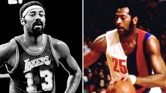 Wilt Chamberlain and Gus Johnson