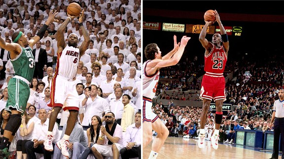 LeBron James, Michael Jordan