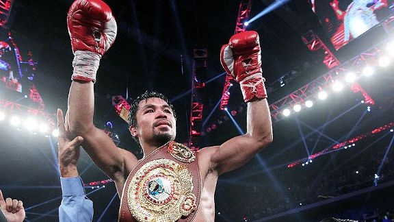 After his domination of Brandon Rios, Manny Pacquiao is ranked at No. 1 at welterweight by the WBC.