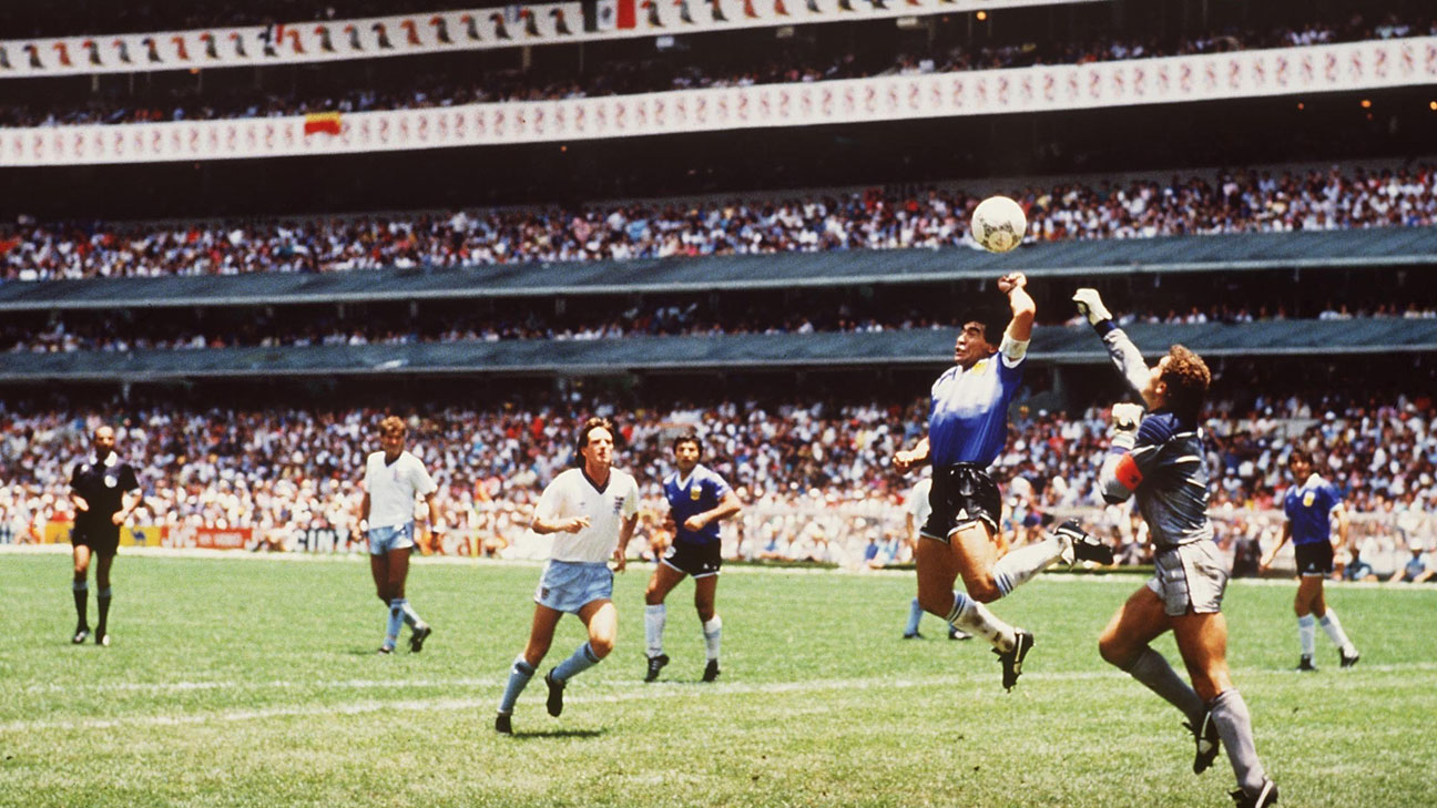 Diego Maradona And The Hand Of God Goal From 1986 30 Years On