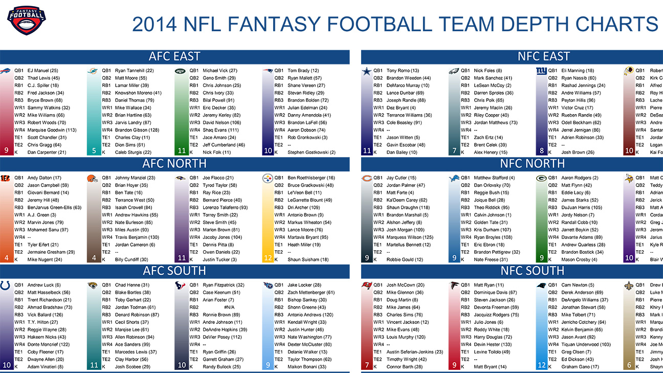 2014 Fantasy Football Cheat Sheets Player Rankings Draft Board Standard Ppr