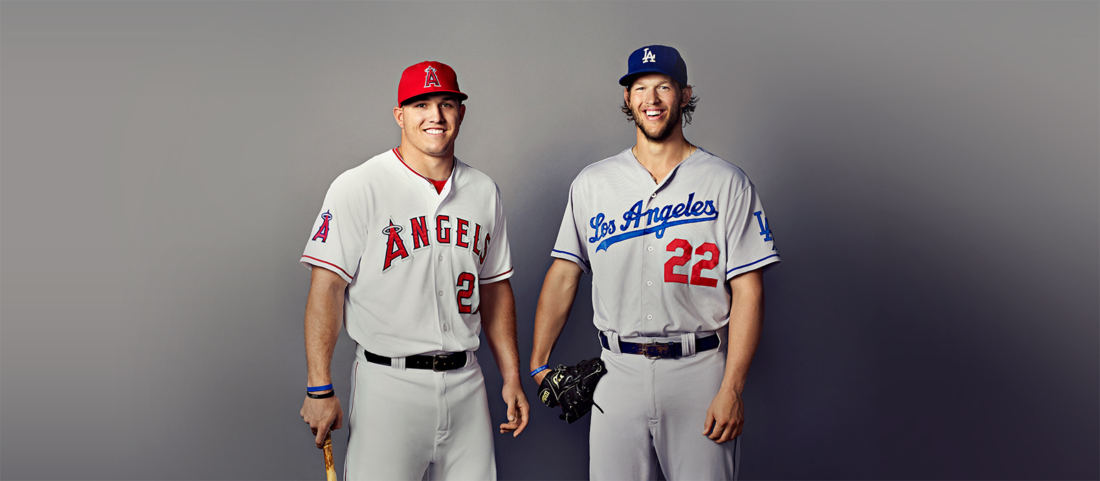check out 92cfc d7e6c Los Angeles Angels Mike Trout and Los Angeles Dodgers ...