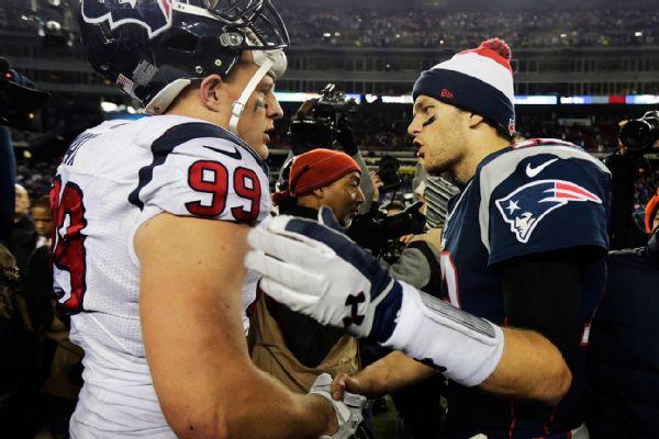 Brady, Watt, Peterson headline All-Decade Team