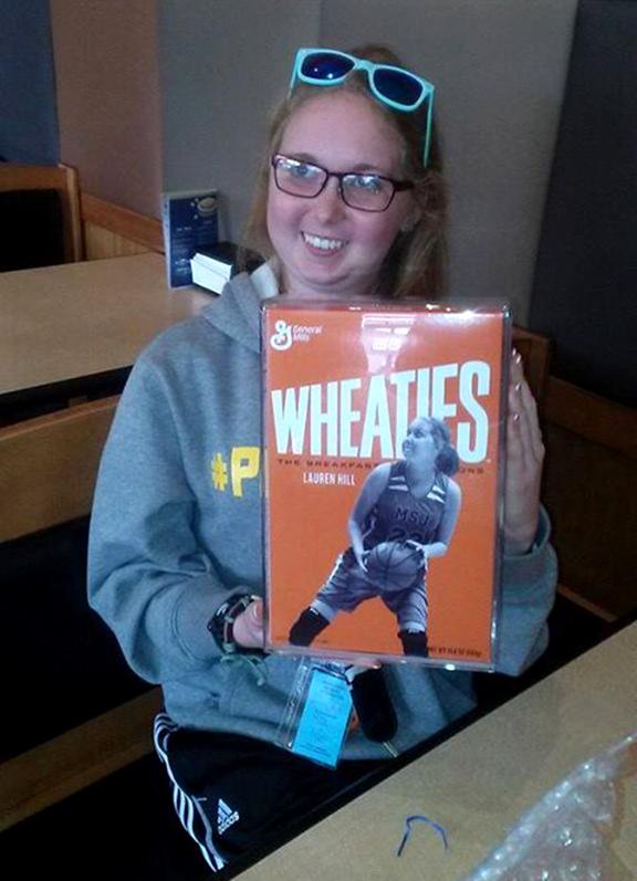 Lauren Hill gets her own Wheaties Box