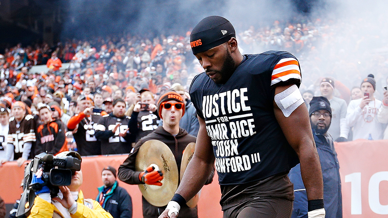 Andrew Hawkins of Cleveland Browns wears protest shirt; police ...