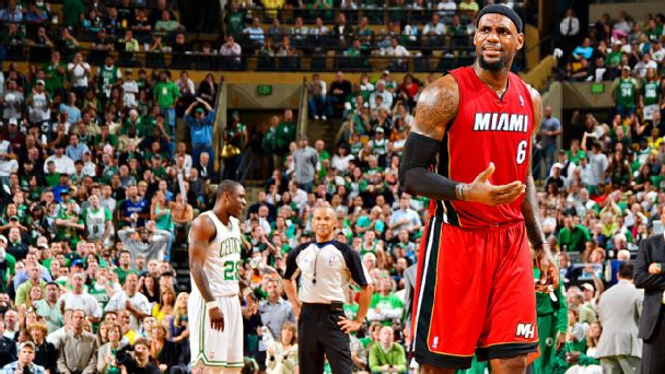 The Top 10 Lebron James Performances Against The Boston Celtics