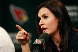 JEN WELTER, TRAINING CAMP COACHING INTERN, INTRODUCED BY CARDINALS