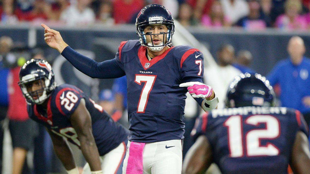 The Houston Texans officially release quarterback Brian Hoyer