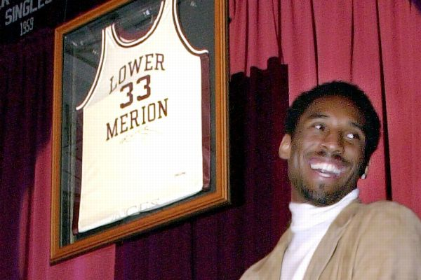 online store 679d5 49ac1 Kobe s stolen high school jersey is returned   abc30.com