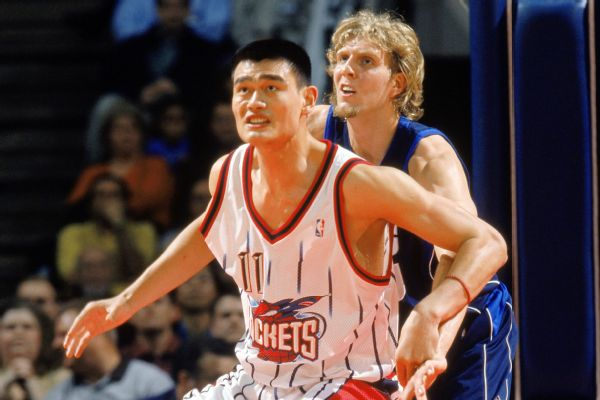 huge selection of 4a034 e8b5c Rockets celebrate Yao Ming as Hall of Famer's No. 11 jersey ...