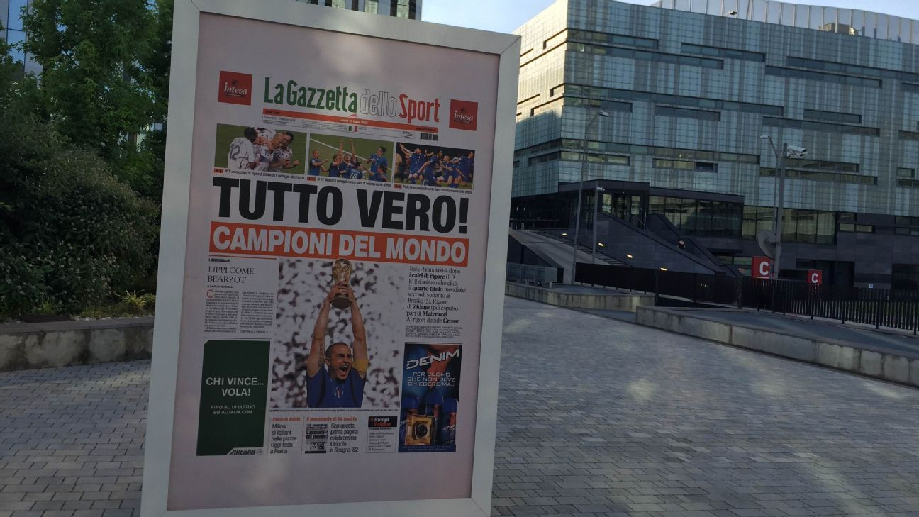 Black Pink And Read All Over Italy La Gazzetta Tracks The Pulse Of Sport