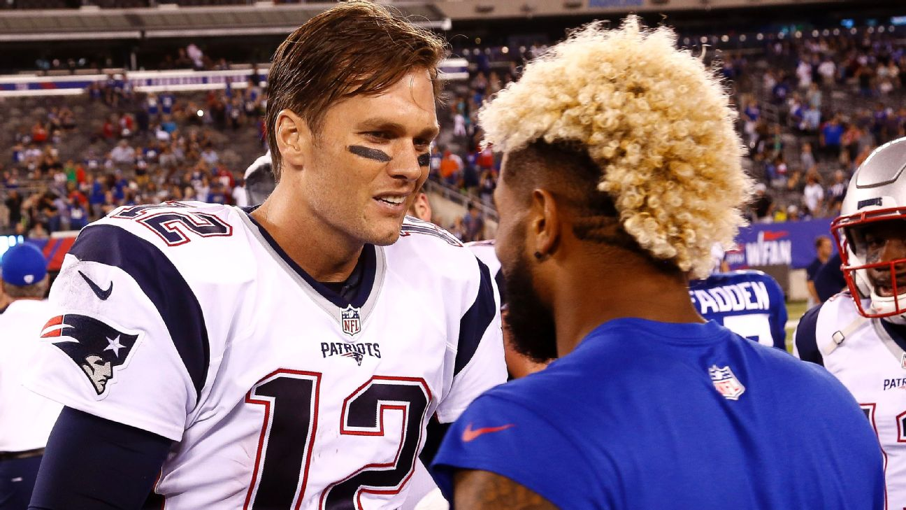 Tom Brady, Odell Beckham Jr. exchange jerseys after Patriots ...