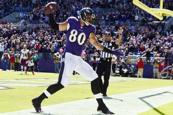 Ravens TE Crockett Gillmore ruled out for season after MCL surgery ...