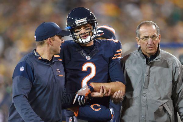 Bears' Brian Hoyer suffers broken left arm, replaced by Matt ...