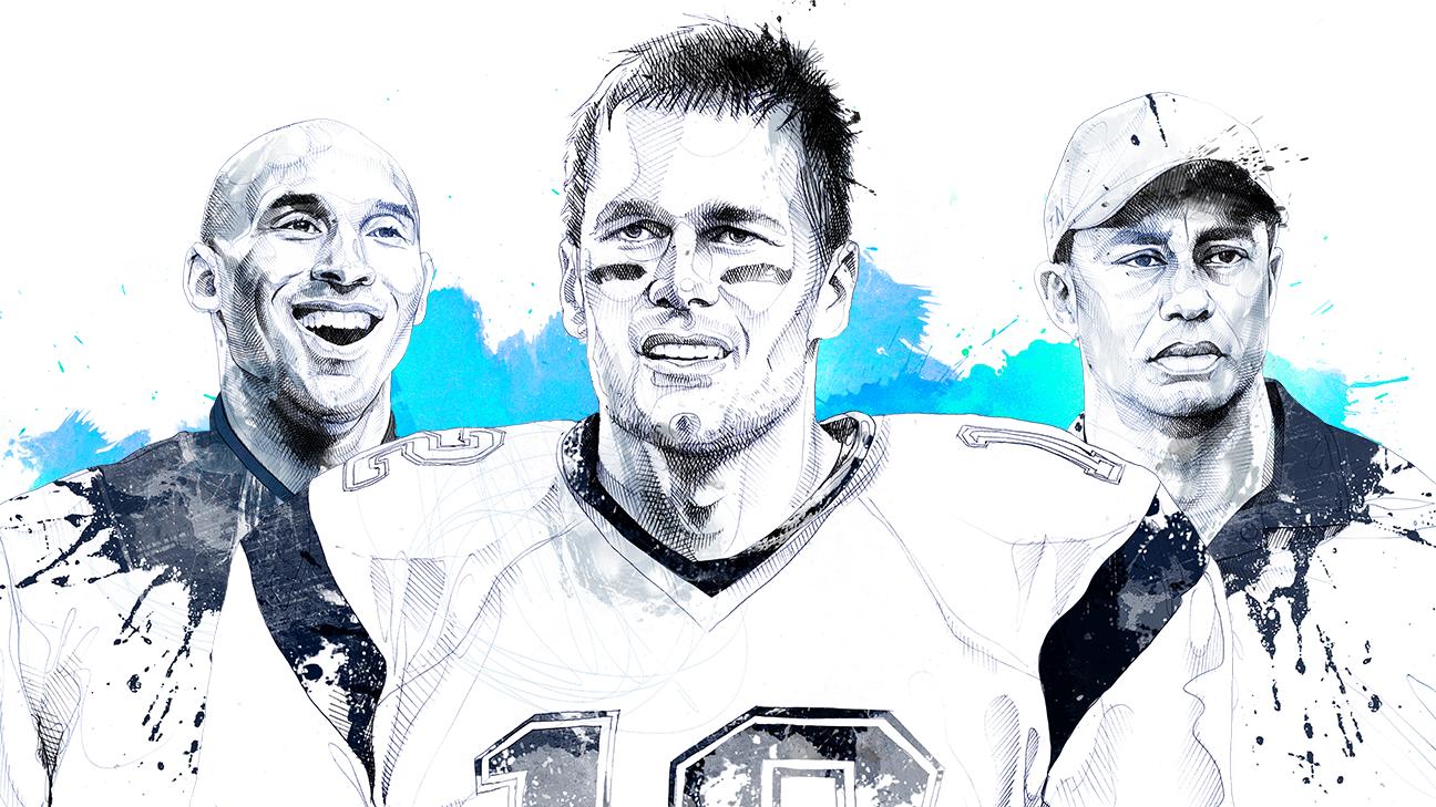 39b0626d Tom Brady, Kobe Bryant and Tiger Woods are living legends