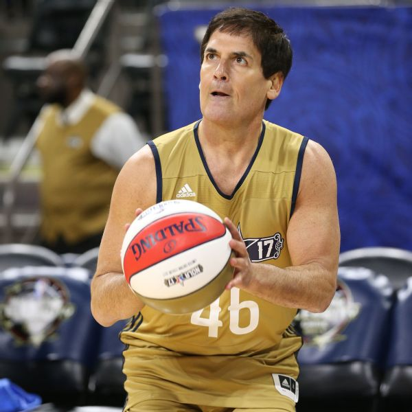 b9c344b4a94 Mark Cuban takes apparent jab at Donald Trump with No. 46 jersey ...
