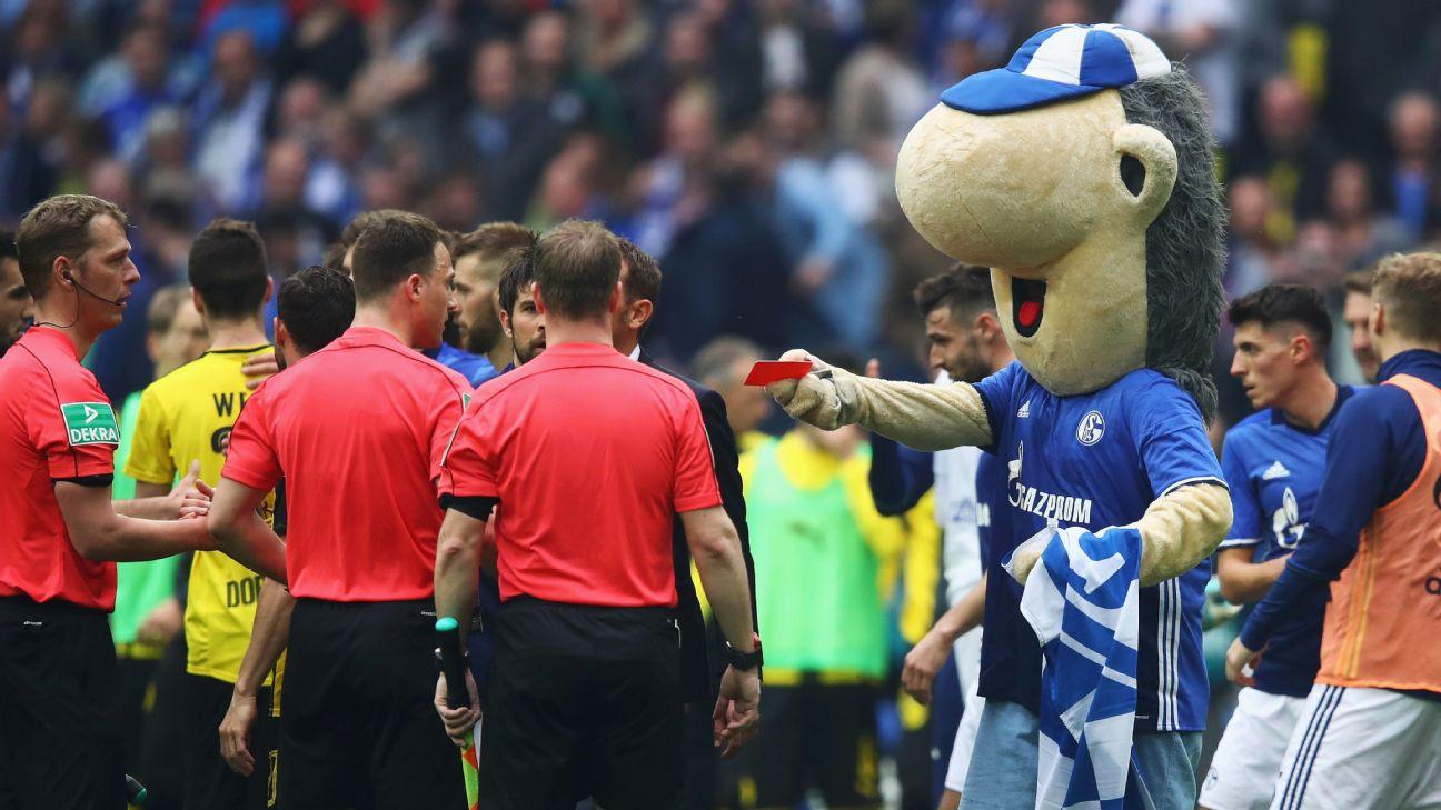 Schalke Mascot Erwin Warned Following Borussia Dortmund Red Card Incident