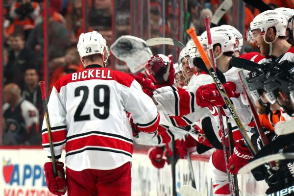 e49922b07 Retiring Bickell scores in shootout of final game. Hurricanes forward Bryan  ...