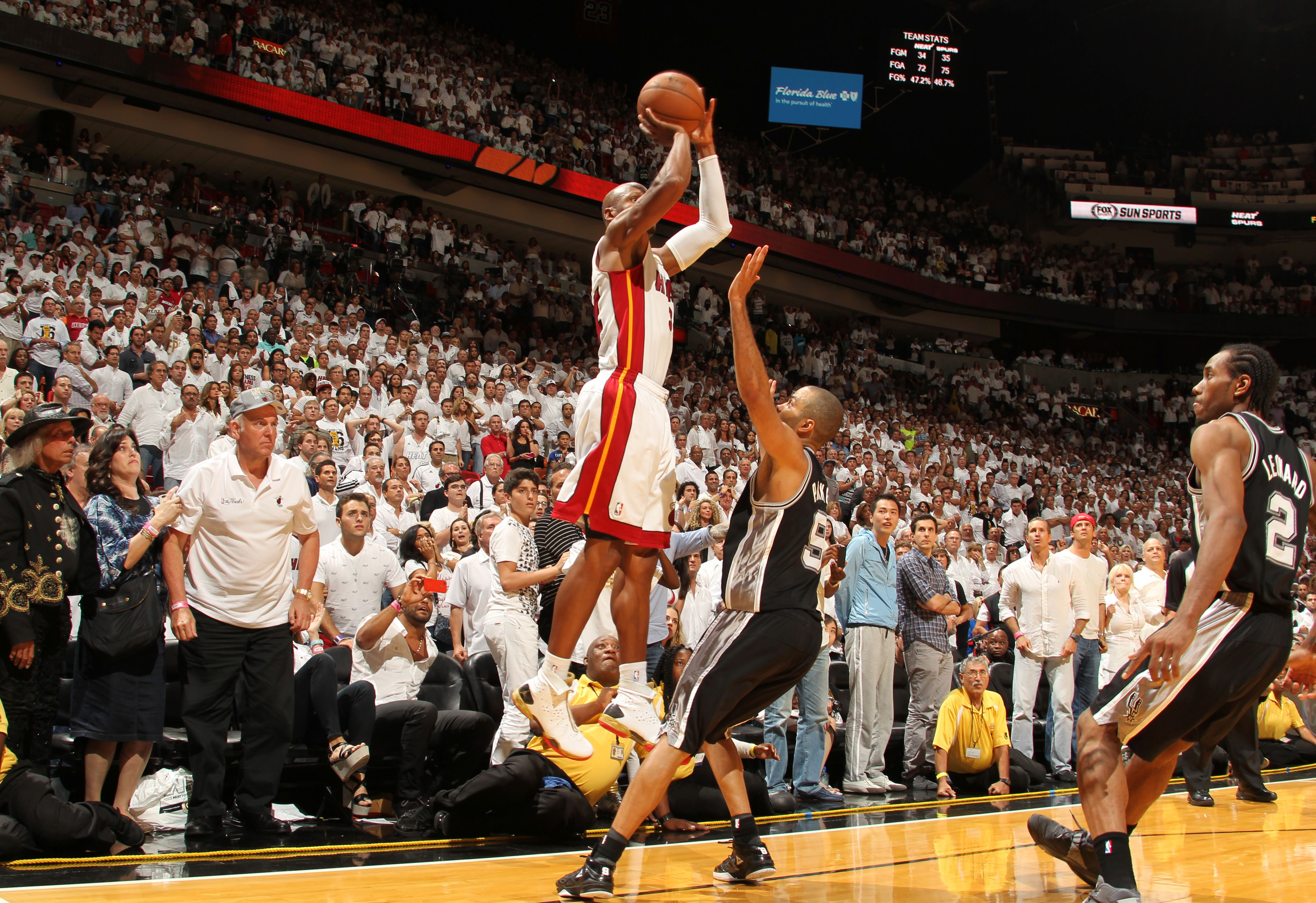 Ray Allen s 3-pointer in the 2013 NBA Finals of those events that has grown  in stature even in the relatively short time since it happened. 7549593eb
