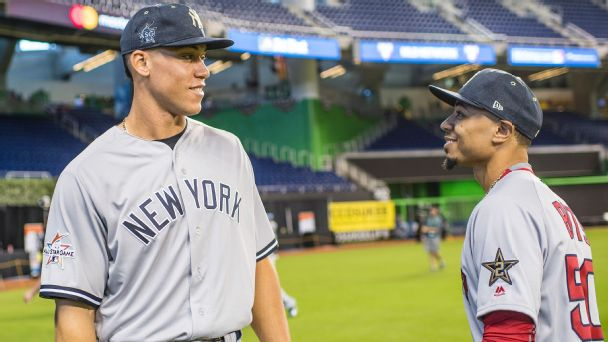 Judge vs. Betts the new rivalry within Red Sox-Yankees rivalry ...