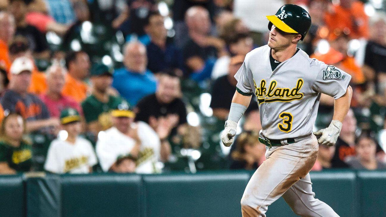 Boog Powell of Oakland Athletics hits first career home run near ...