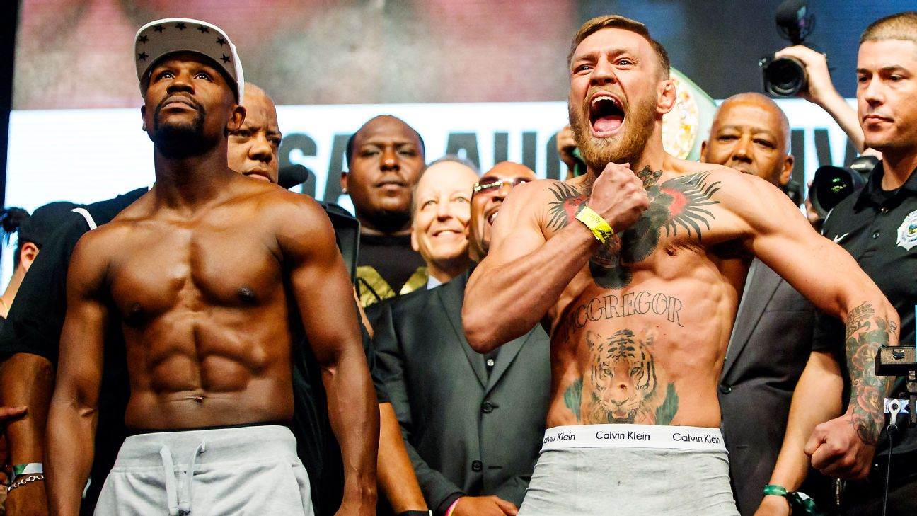 Floyd Mayweather-Conor McGregor weigh-in