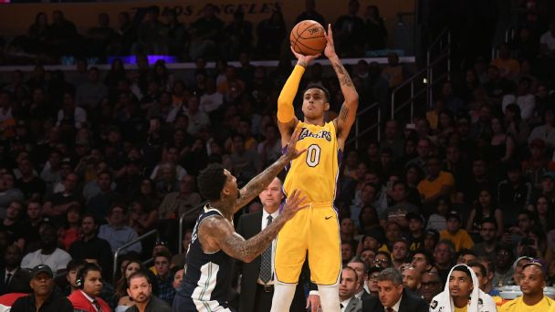 b4abd3ff39f3 Pelton mail  Lakers rookie Kyle Kuzma already a shooting star ...