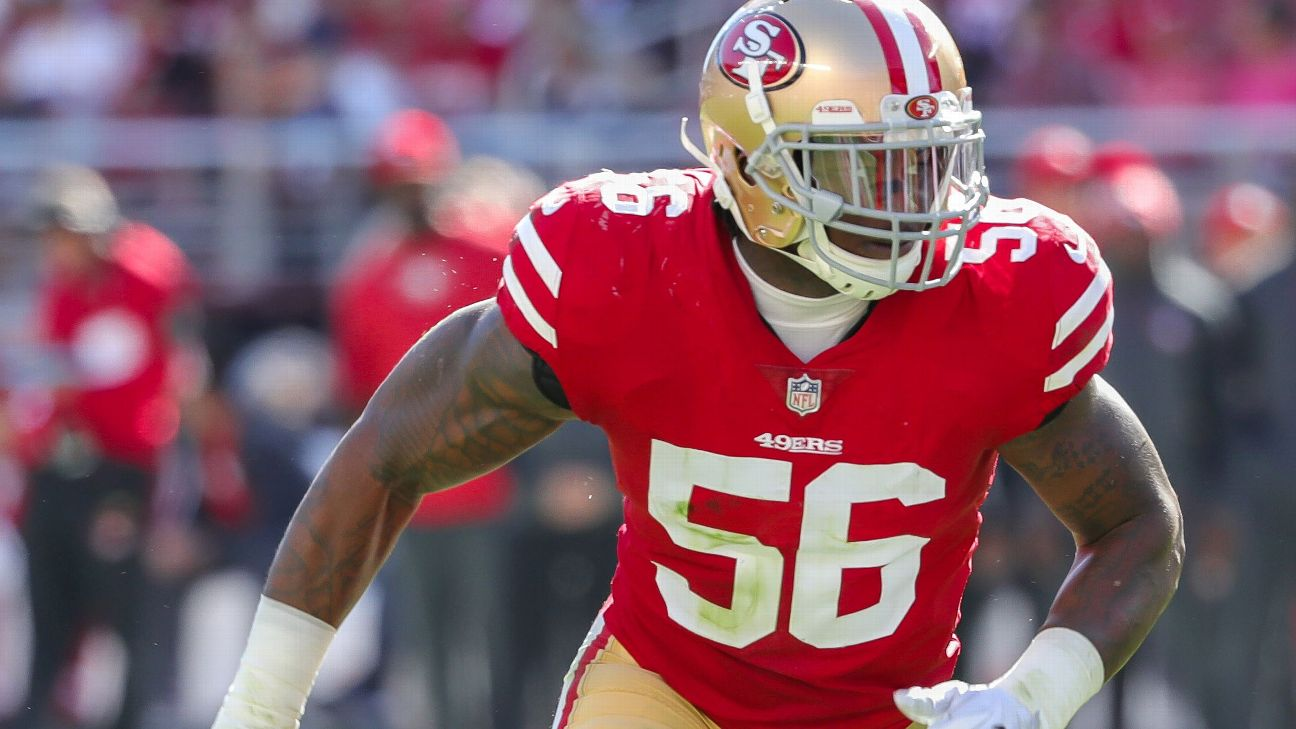 premium selection f74f1 eb5bc San Francisco 49ers to release LB Reuben Foster following ...