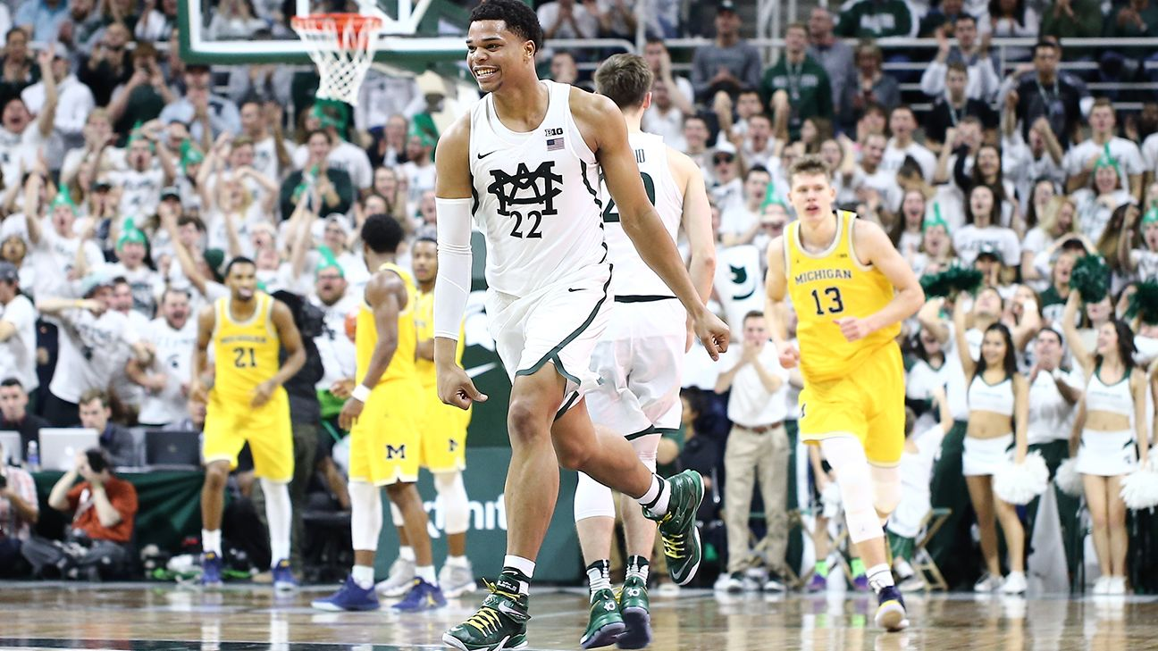 buy online b7873 5b8ef Why Michigan State's Miles Bridges decided to return to college