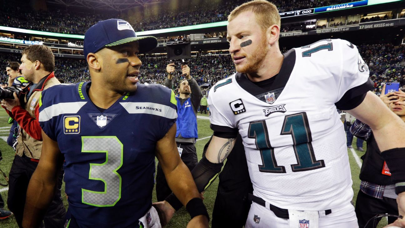 Young Carson Wentz Rooted Hard For Nc State S Russell Wilson