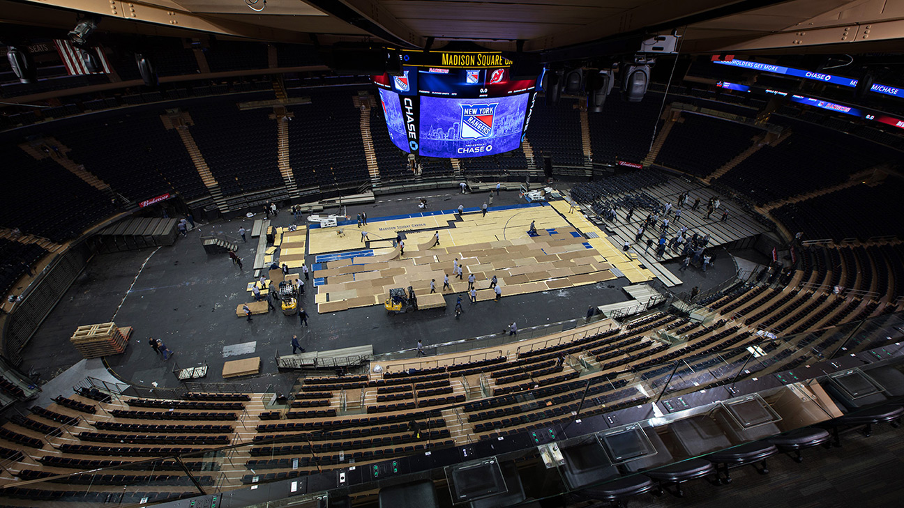 Inside View Of Madison Square Garden