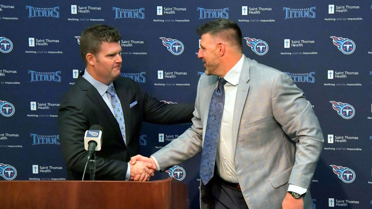 Titans hope Jon Robinson-Mike Vrabel pairing results in championships -  Tennessee Titans Blog- ESPN