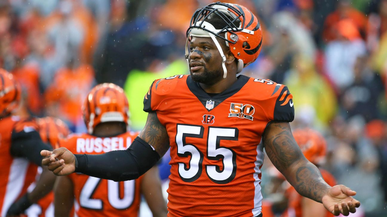 newest 0b3b6 e29d9 Vontaze Burfict of Cincinnati Bengals fined $112,000 for ...