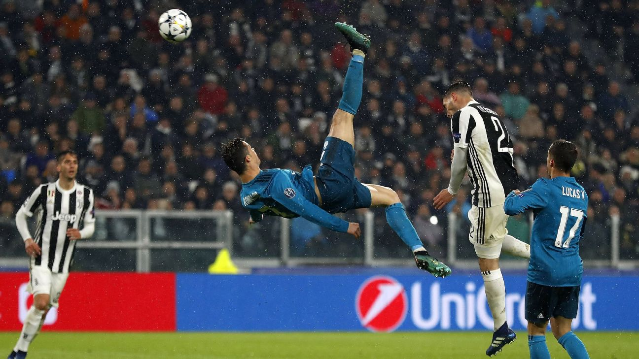 Ronaldo S Iconic Overhead Kick Reveals That At 33 He S Better Than Ever