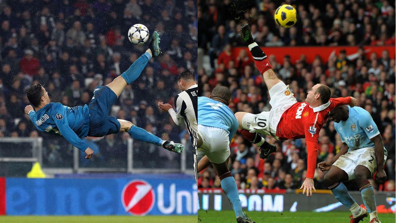 Wayne Rooney My Overhead Kick Was Better Than Cristiano Ronaldo S