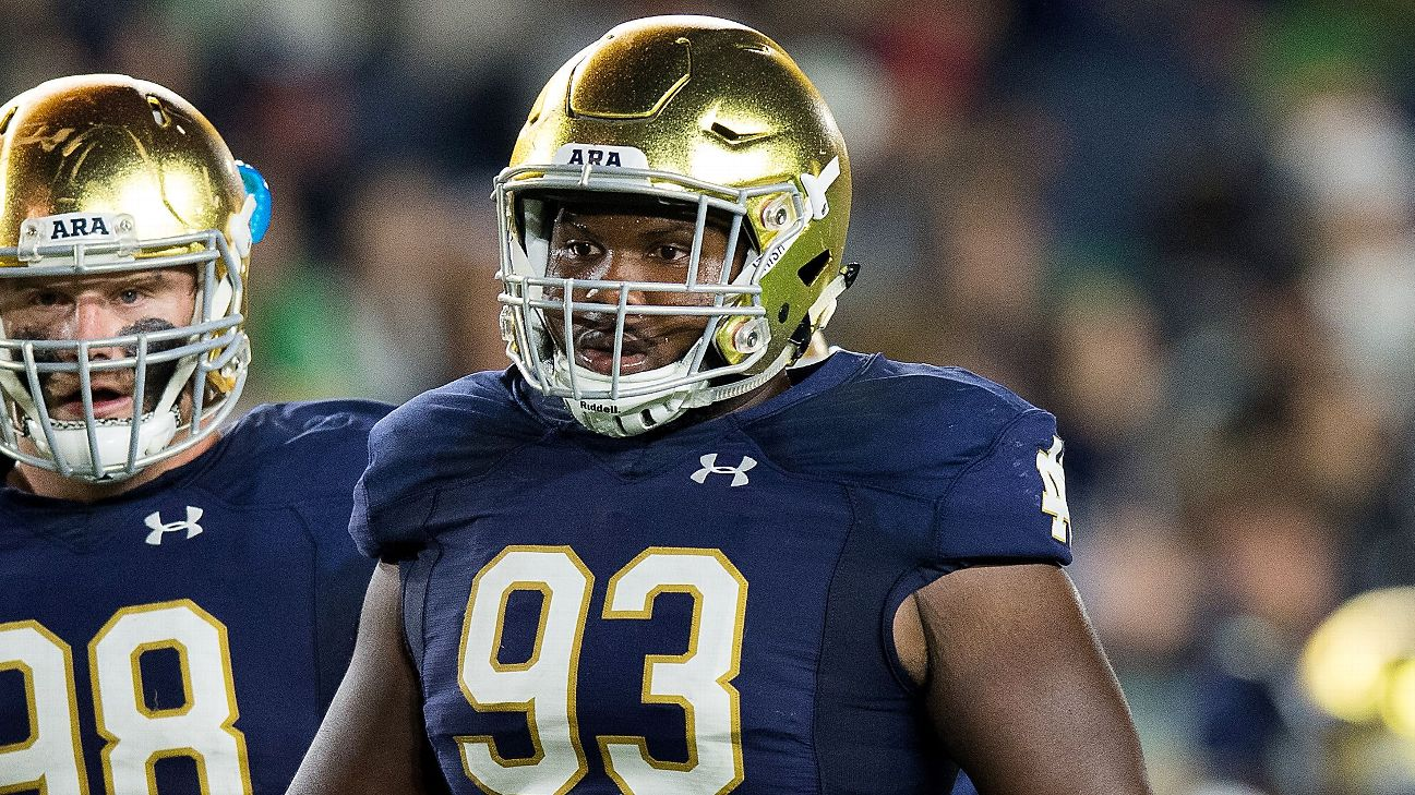 Ex-ND DL Jay Hayes will transfer to Georgia - ABC7 Chicago