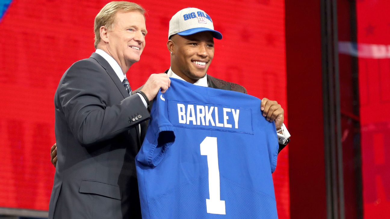 more photos a0950 8bf5f Saquon Barkley's jersey top seller among first-round picks ...