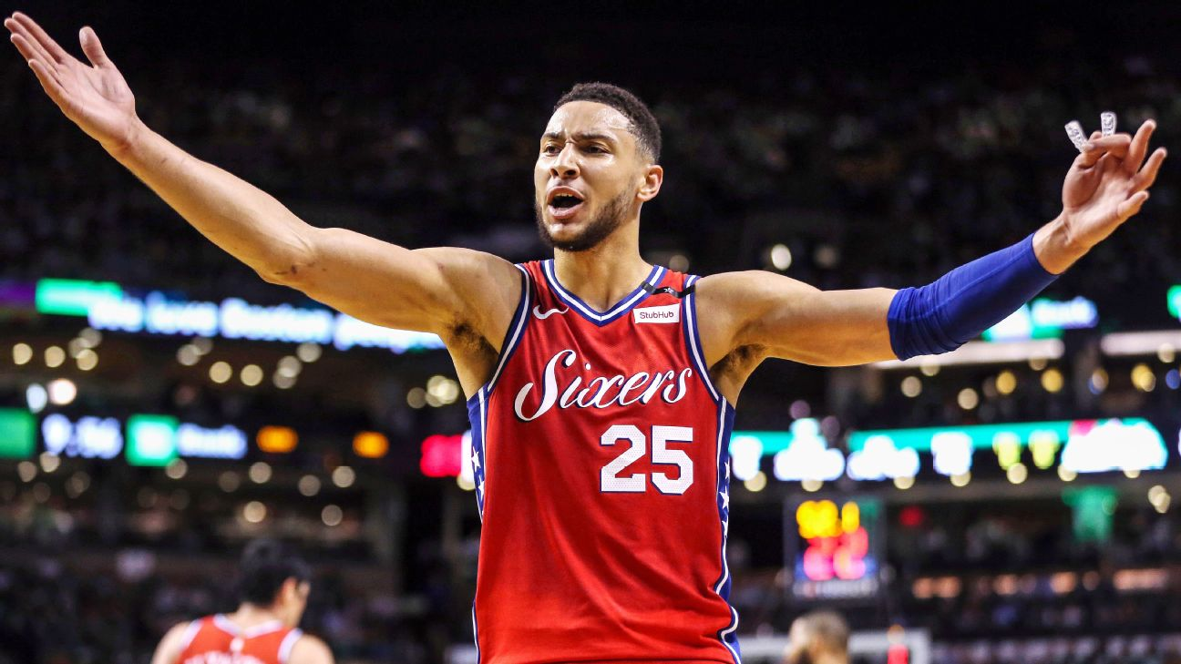 Sixers  Ben Simmons claims NBA s Rookie of the Year award  f08b52aef