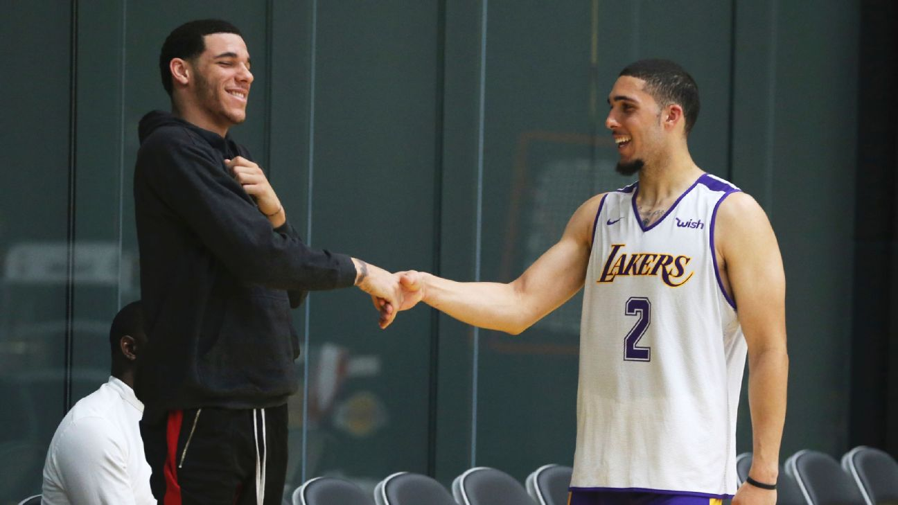 3c38782aa6ca LiAngelo Ball works out for Lakers